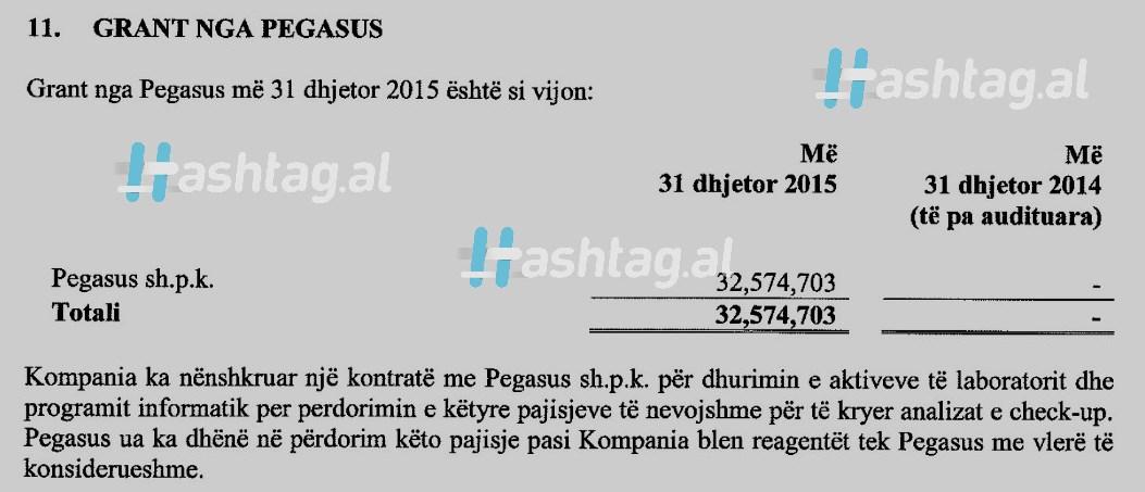 Pegasus granti per Vilma Nushin